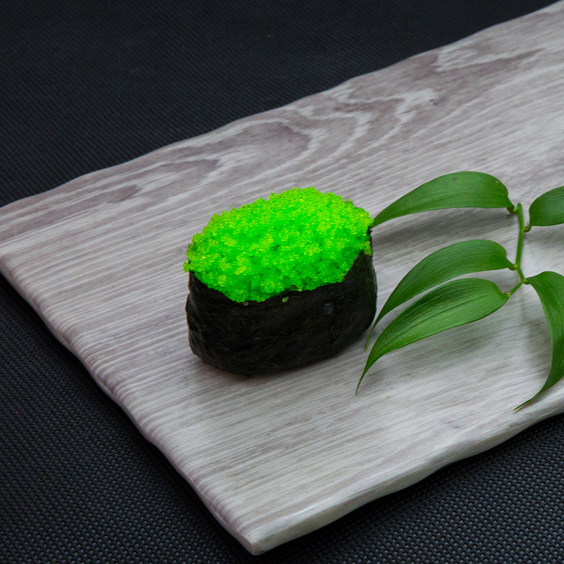Wasabi flying fish roe sushi