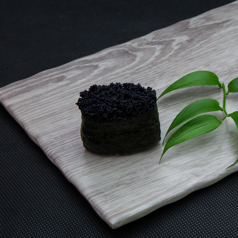 Black flying fish roe sushi