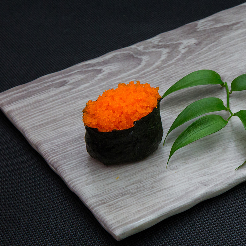 Flying fish roe sushi