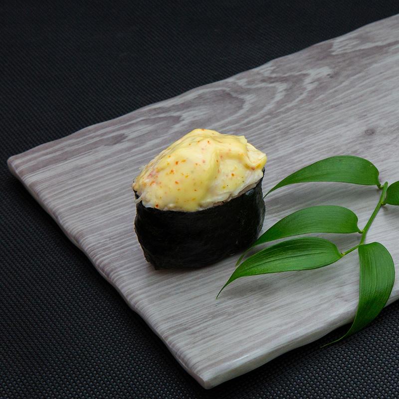 Hot snow crab sushi