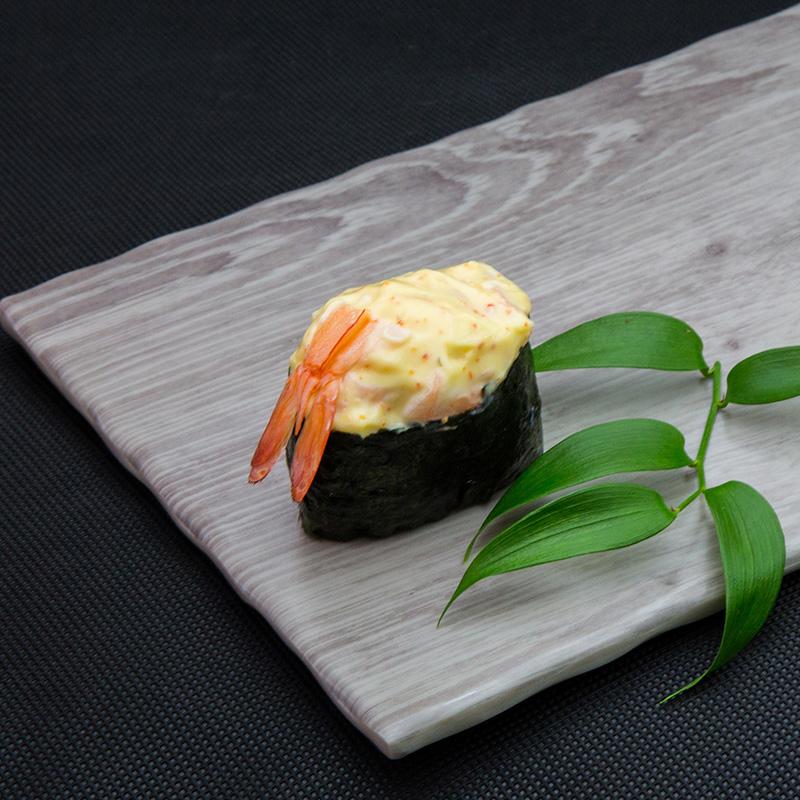 Hot king shrimp sushi