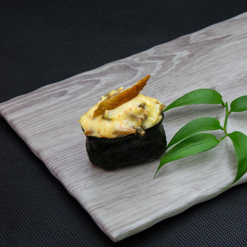 Hot eel sushi