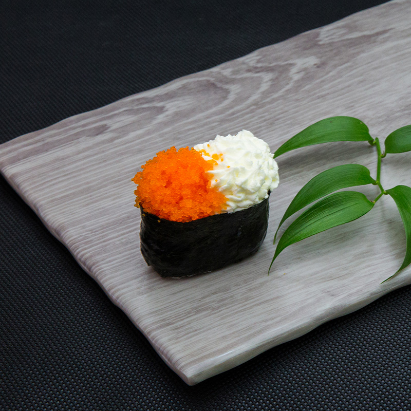 Flying fish roe with cream cheese