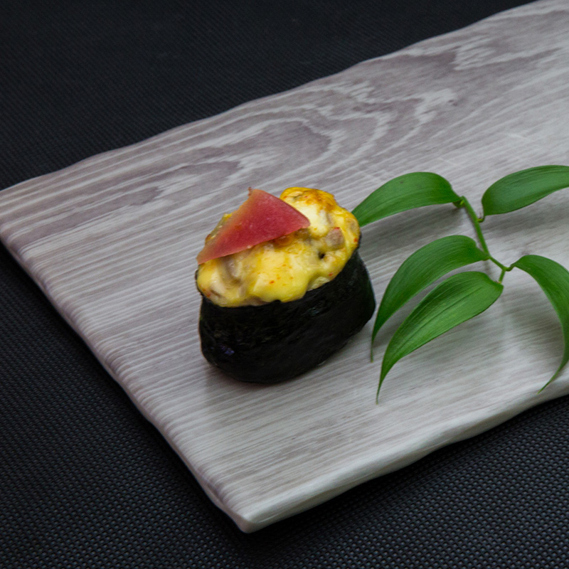 Backed tuna sushi